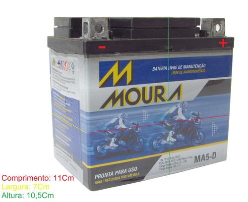 bateria moura ma5-d quadriciclo yamaha yfm 350 r
