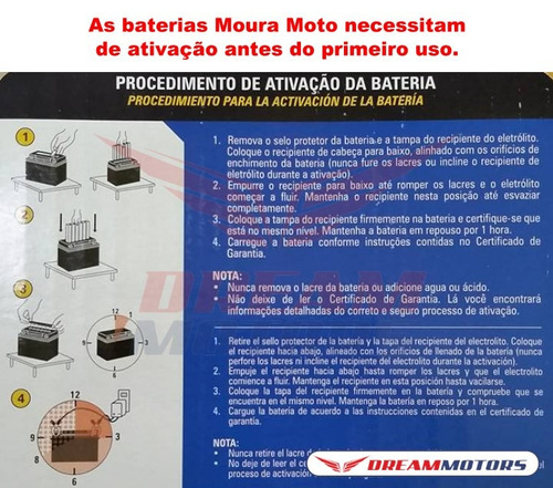 bateria moura ma8-e ninja 300 250 zx6r z750 burgman 400