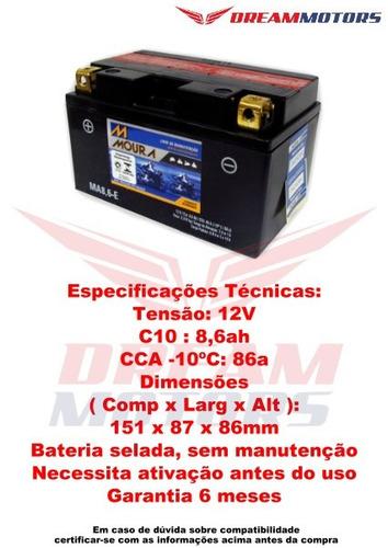 bateria moura ma8,6-e hornet 600 cb1000r cb 1000 mt-07 mt-09