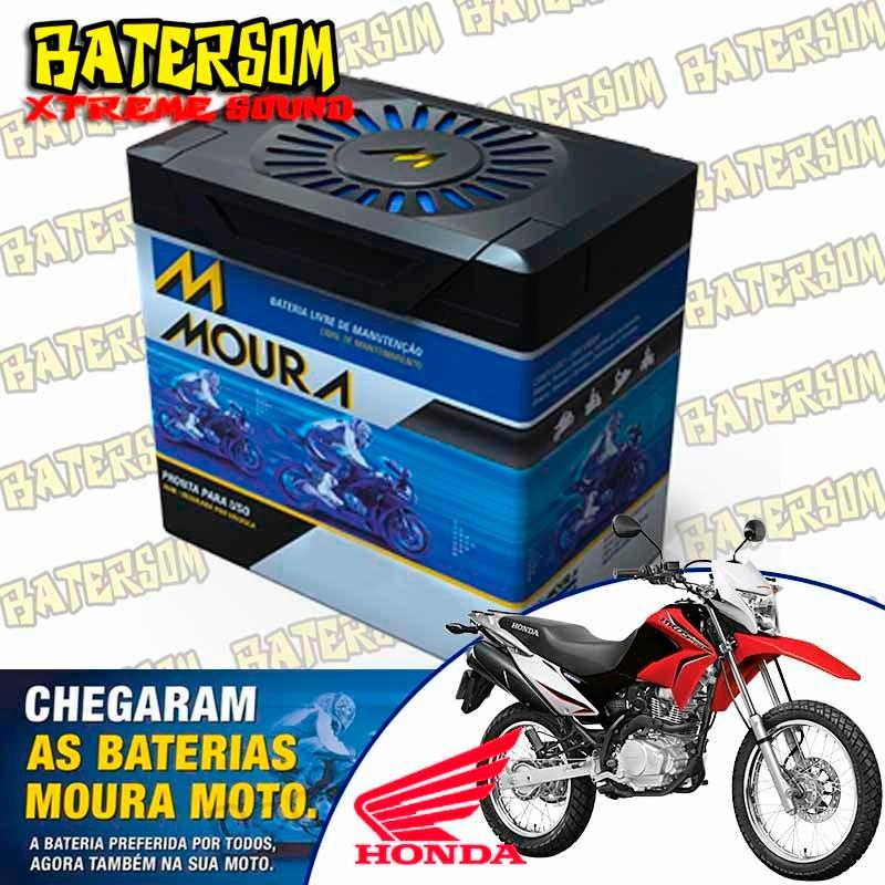bateria moura moto 5ah nxr bros 150cc   r 145 00 em