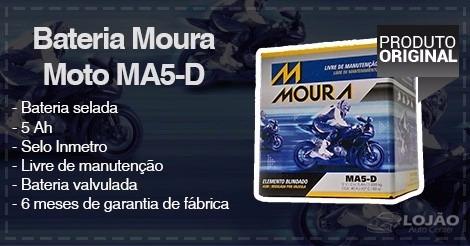 Bateria Moura Moto Ma 5d   Cg   Ybr   Honda   Yamaha