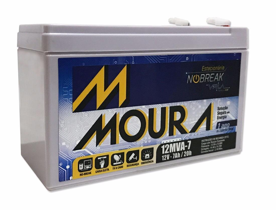 Bateria Moura Nobreak 7ah Por 12vdc 12mva-7 Sms E Apc