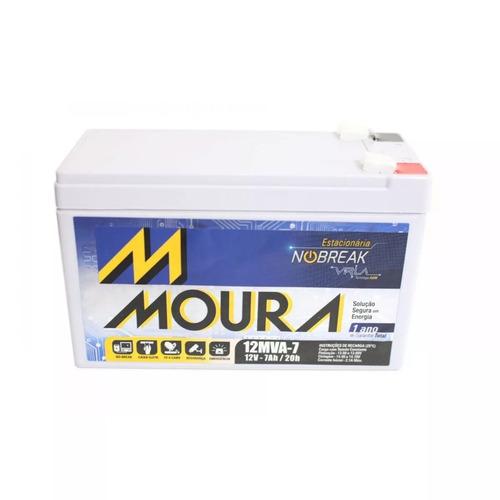 bateria moura vrla selada 12v 7ah alarme no-break