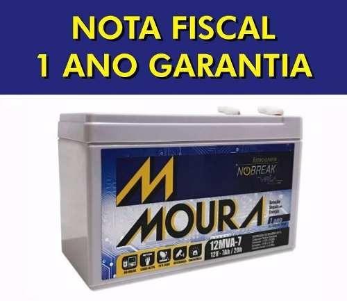 bateria moura vrla selada 12v 7ah alarme  nobreak. com nf