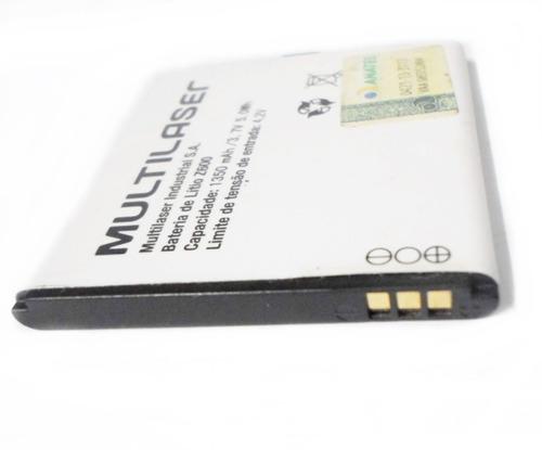 bateria multilaser mod z600 lítio 1350 mah 3.7v original