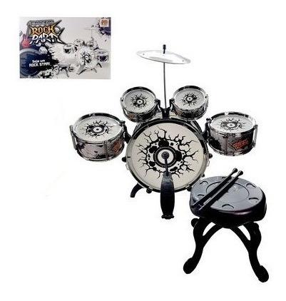 bateria musical infantil vermelha rocky party brinquedos top