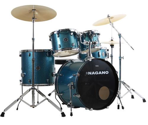bateria nagano garage rock azulc/ banco (loja fisica 17anos)