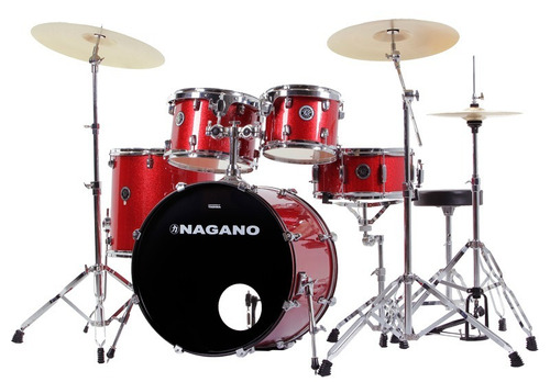 bateria nagano garage rock c/banco (loja a 17 anos)
