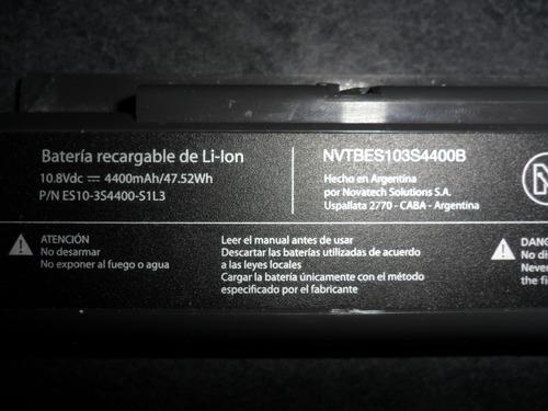 batería netbook novatech