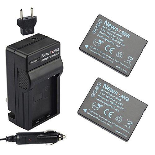 batería newmowa dmw-bcg10 (paquete de 2) y juego de cargador