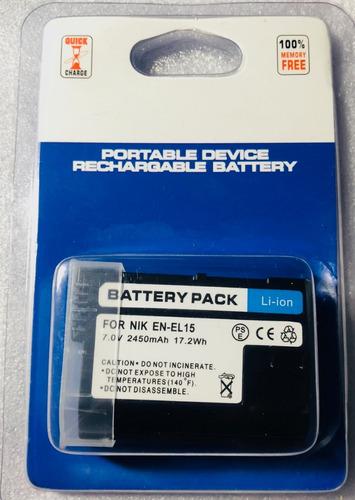 bateria nikon en-el 15 d7000 d7100 d800 d600 d500
