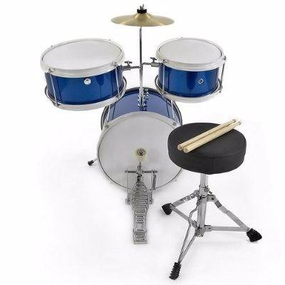 bateria niños blue eagle 3 pieza excelente calidad percusion
