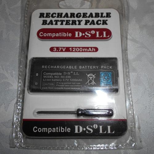 batería nintendo dsi xl recargable + destornillador