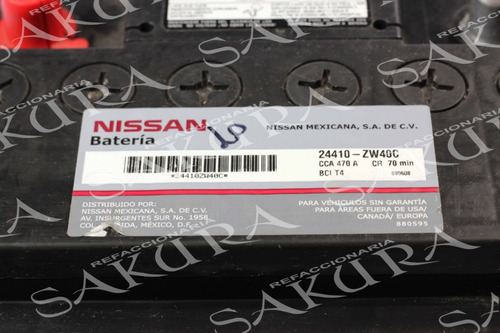 Bateria Nissan Versa   March Original