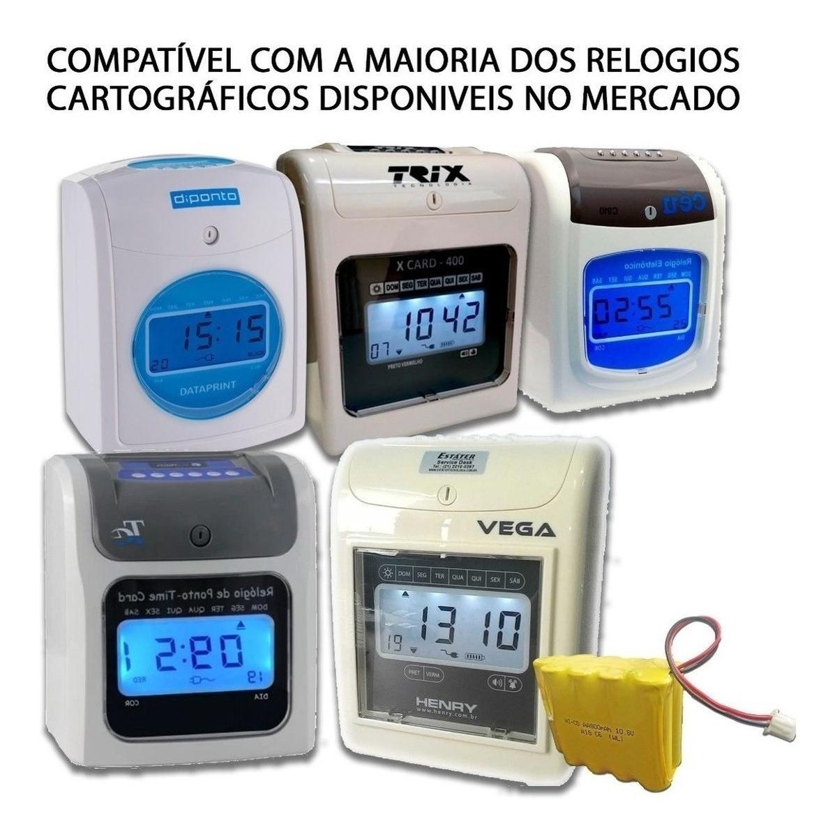 Bateria Nobreak Relógio De Ponto Cartográfico Henry Vega - R$ 64 ...