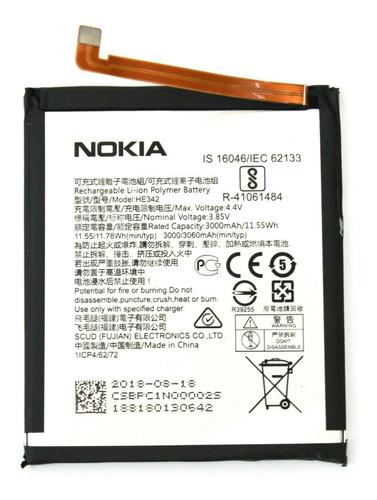 bateria nokia 5.1 plus he342 3.85v 3000mah belgrano