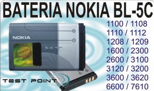 batería nokia bl/5ca - 5c - 5j - 5b