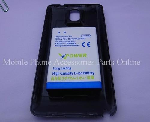 batería note 3 extendida larga duración 7800 mah con tapa