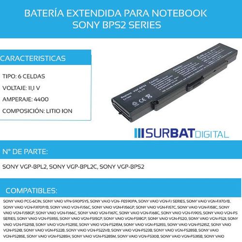 batería notebook sony
