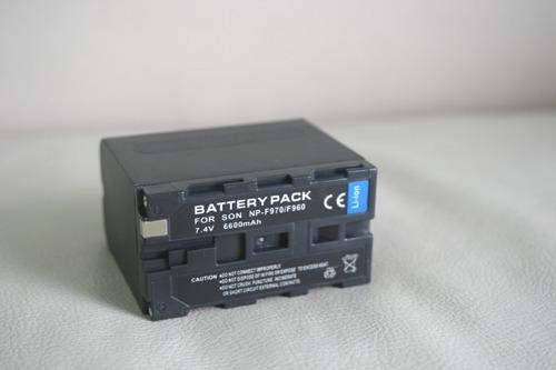 bateria np f960/970 de longa duração pd170 z1, z5, z7, nx5