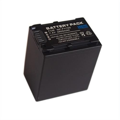 bateria np-fv100 p/ filmadora sony hdr-cx190 hdr-cx220 nova