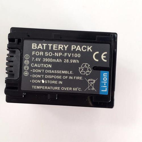 bateria np-fv100 sony hdr-xr150 xr550 cx110 sr68 sx22 sx21