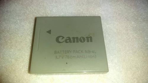 bateria o pila para camara canon nb-4l. usada