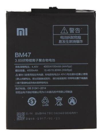 batería original bm47 para xiaomi redmi 3s / 4x