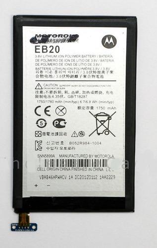 bateria original droid razr xt910 xt912 eb20 +cable flex oem