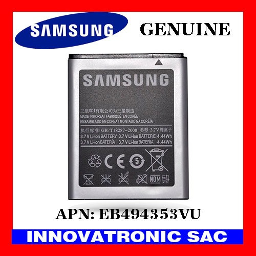 bateria original galaxy mini s5570 apn: eb494353vu