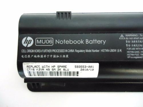batería original hp  mu06 g42 g62 cq42 g4 dm4 garantia 1 año