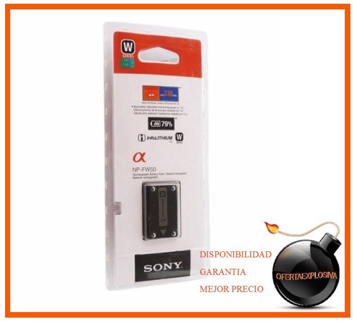 bateria original marca sony np-fw50 nex-5ks nex-5hb fw50