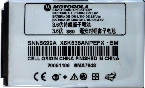 bateria original motorola e1 860mah (2005) e2234