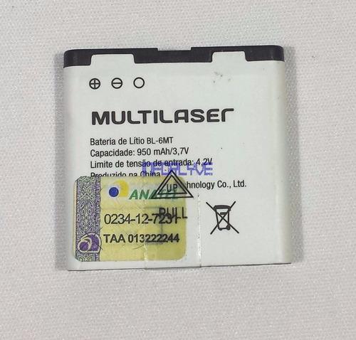 bateria original multilaser bl-6mt lítio 950 mah original
