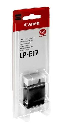 batería original para cámaras dslr o reflex canon eos lp-e17