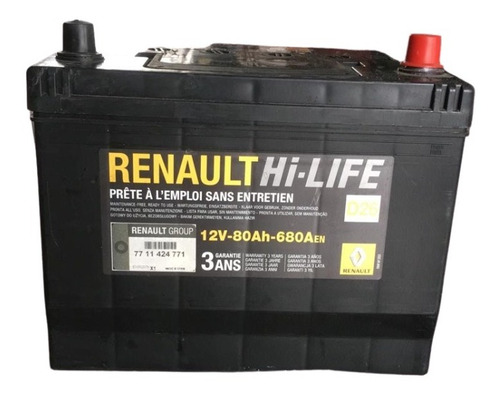 batería original - renault koleos 12v-80 ah-680aen