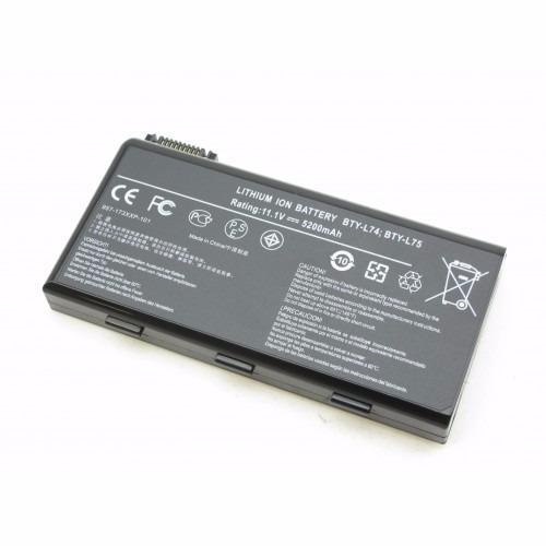 bateria p/ notebook msi a6430 a6200 cr620 bty-l74 bty-l75