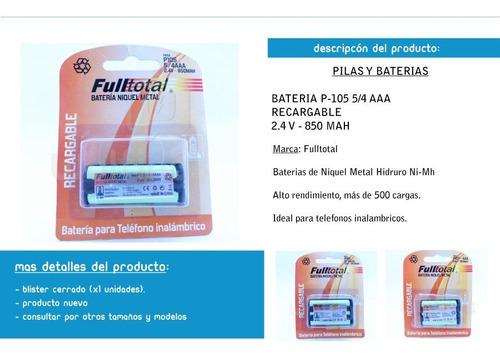bateria p105 telefono inalambrico panasonic - factura a/b