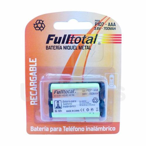 bateria p107 telefono inalambrico panasonic - factura a/b