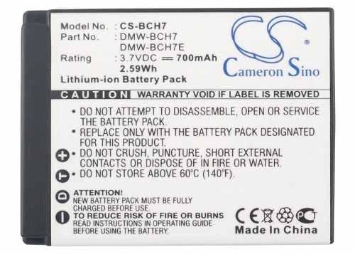 bateria panasonic bch7 lumix dmc-fp3 / dmcfp3 / fp3
