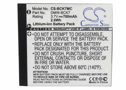 bateria panasonic bck7 lumix dmc-fs16k dmcfs16k fs16k