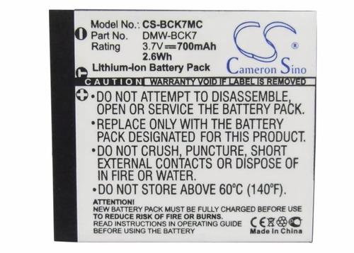 bateria panasonic bck7 lumix dmc-s3a  dmcs3a  s3a