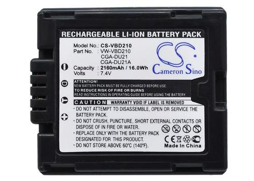 bateria panasonic cga-du21 nv-gs40b nvgs40b gs40b