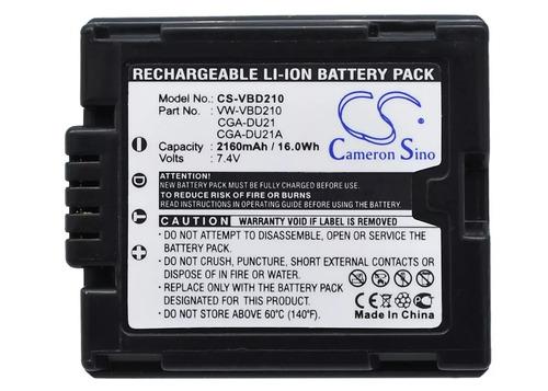bateria panasonic cga-du21 sdr-h250 dvd sdrh250 h250