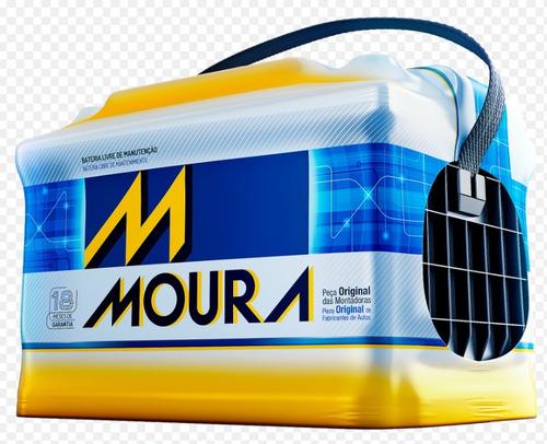 bateria para auto ford fiesta kinetic m18fd / 12x50 moura