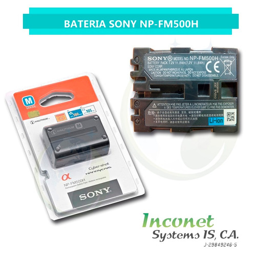 bateria para camaras sony np- fm500h inco