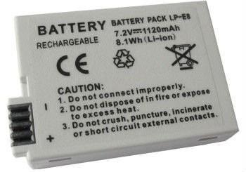 bateria para canon lp-e8  eos t2i- t3i-t4i-t5i