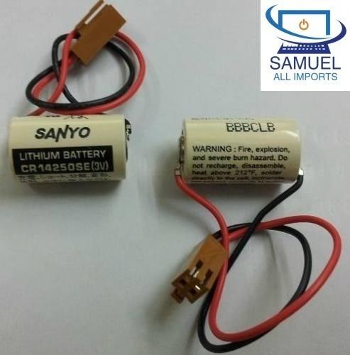 bateria para fanuc/cnc/plc sanyo cr14250se 3v 850mah