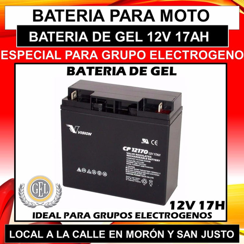bateria para grupo electrogeno