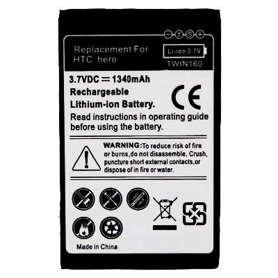bateria para htc hero a6262 g3 t5399 1340mah